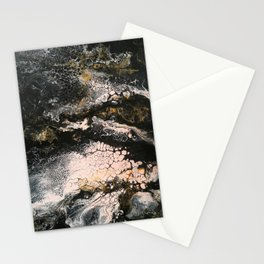 Abstract artwork black pink gold Stationery Cards