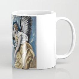 """El Greco (Domenikos Theotokopoulos) """"The Annunciation (1595-1600)"""" Coffee Mug"""