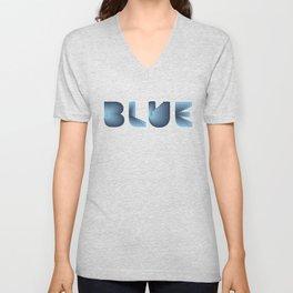 Blue diamond pattern on neon grid Unisex V-Neck