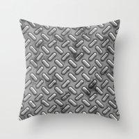 metal gear Throw Pillows featuring Metal Gear by Arhipelago