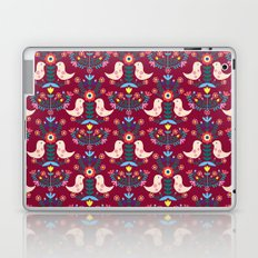 Folk Birds Red Laptop & iPad Skin