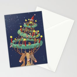 Advent-deers Stationery Cards