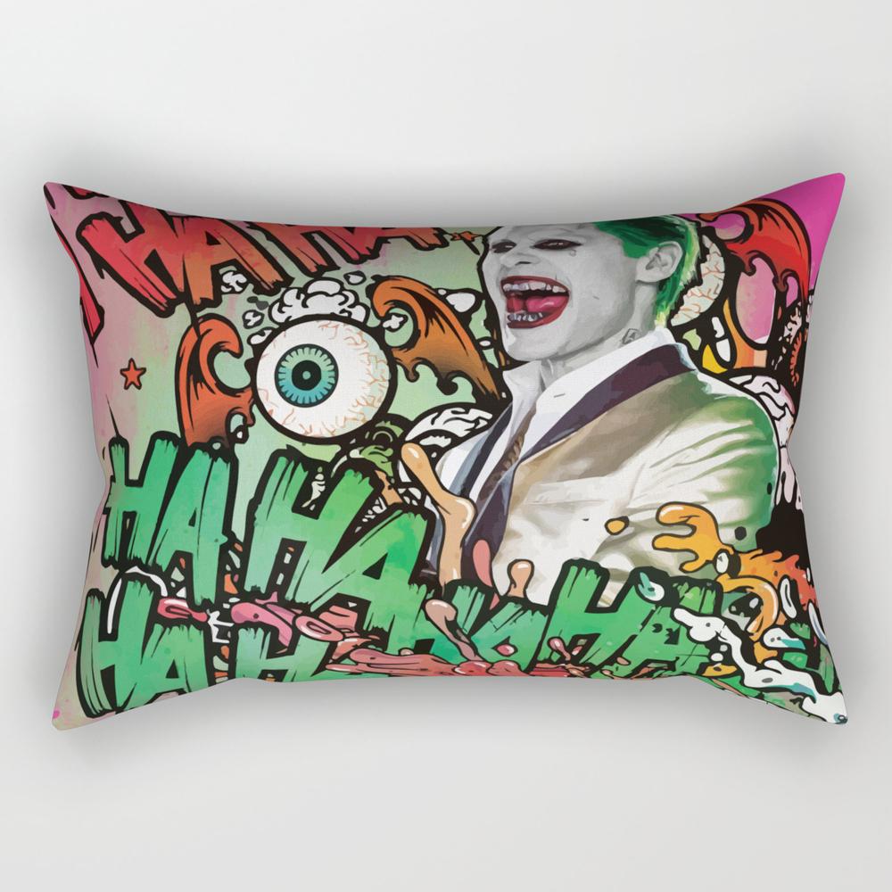 Joker Laughs Rectangular Pillow RPW8875819