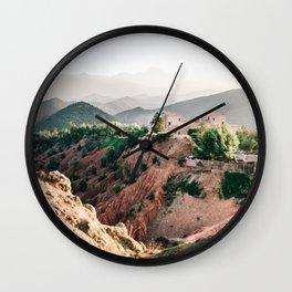 Travel photography Atlas Mountains Ourika | Colorful Marrakech Morocco photo Wall Clock