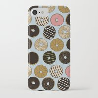 doughnut iPhone & iPod Cases featuring Doughnut Pattern by Blue Laurel Paper Co