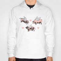 pigs Hoodies featuring Flying Pigs by Eclectic at HeART