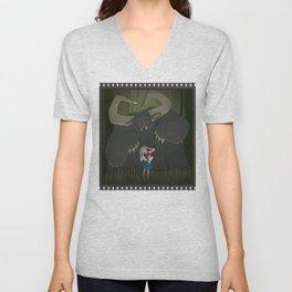 Monster girl in Horrorcolor Unisex V-Neck