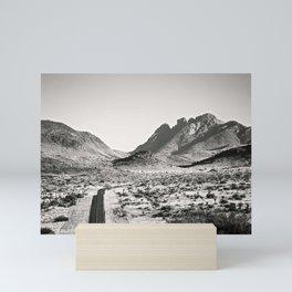 The Lost Highway III Black & White Mini Art Print