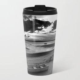 Black and White Sunset Travel Mug