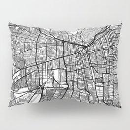 Santiago Map Gray Pillow Sham
