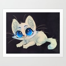 White Kitten Art Print