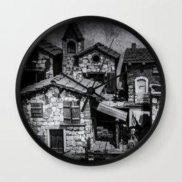 Italian little village Wall Clock