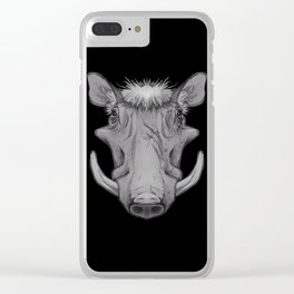 Icons of Africa - Warthog Clear iPhone Case