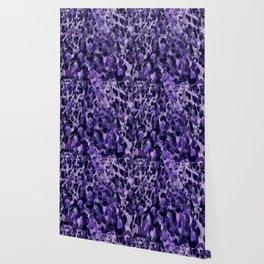 purple leopard in layers Wallpaper