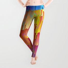 Vibrant Rainbow Cascade Design Leggings