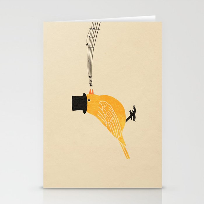 Classical Canary  Stationery Cards