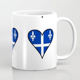 Flag of quebec heart– Canada, montreal,Saint Laurent,Quebecois,belle province, trois rivières. Coffee Mug