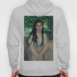 """Auguste Renoir """"En été - La bohémienne (In summer - Gypsy woman)"""" Hoody"""