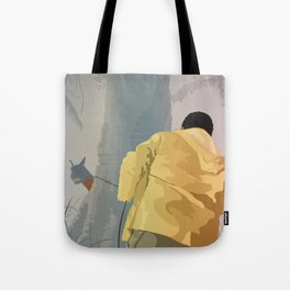 Jurassic Park - Dennis and the Dilophosaurus Tote Bag