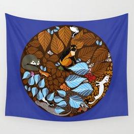 Autumn Mandala Wall Tapestry