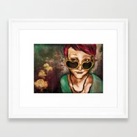 charmaine olivia Framed Art Prints featuring Olivia by Hilary Dow