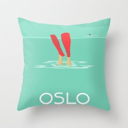 Oslo Hvervenbukta Throw Pillow