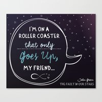 fault in our stars Canvas Prints featuring The Fault in our Stars by Adri Cañenguez