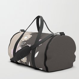 Floral applique . Retro . Duffle Bag