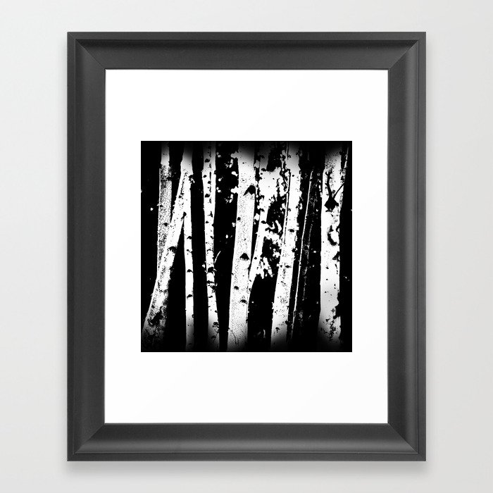 76b445fc90b Black and White Birch Trees Fade Out Framed Art Print by ...