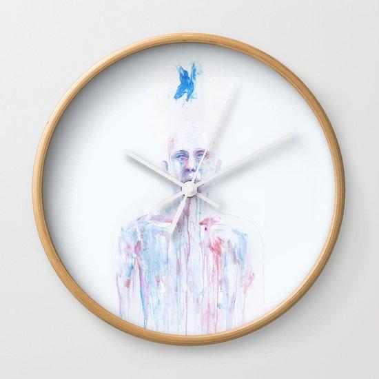 Last Blue Breath Wall Clock
