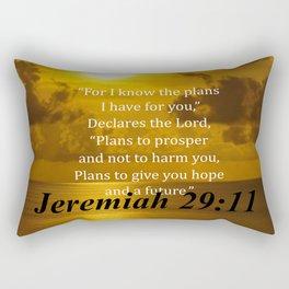 Jeremaiah 29:11 Religious Quote Rectangular Pillow