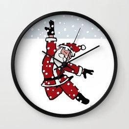 Dancing Santa - 2 Wall Clock