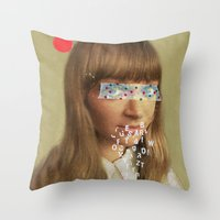 lost in translation Throw Pillows featuring Lost in Translation by Low Low