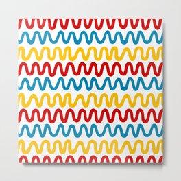Bold Primary Waves Metal Print