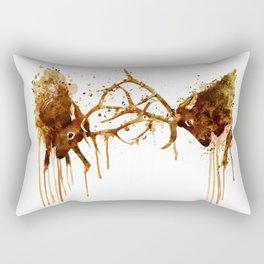 Elks Fight Rectangular Pillow