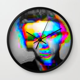 JD Glitch Wall Clock