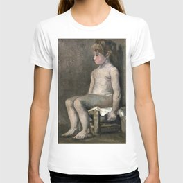 1886-Vincent van Gogh-Nude girl, seated T-shirt