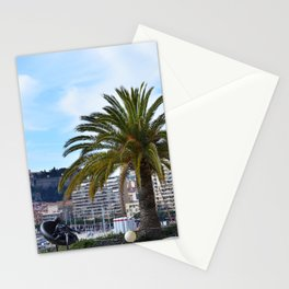 Big palm tree in a rooftop of Monte Carlo, Monaco   Travel Photography Stationery Cards