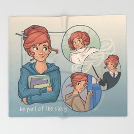 Be Part of the Story Throw Blanket