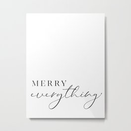 Merry everything in scandinavian style Metal Print
