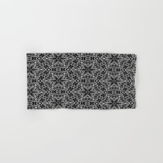 Black and white stars and squiggles 5015 Hand & Bath Towel