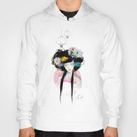 faces Hoodies featuring Nenufar Girl by Ariana Perez
