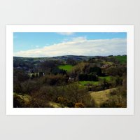A view from Cartland Bridge , Lanark  Art Print