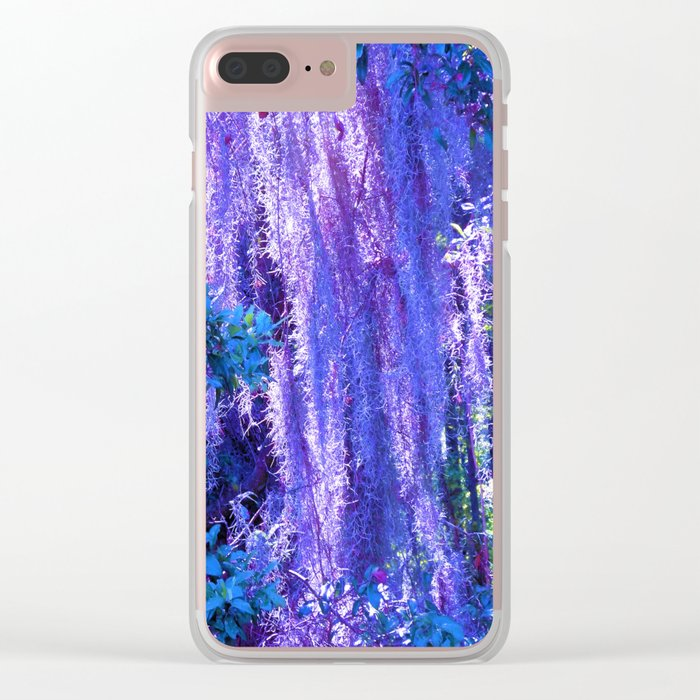 Purple moss Clear iPhone Case