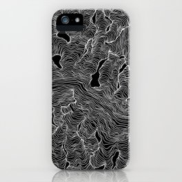 Inverted Enveloping Lines iPhone Case