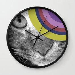 Pshycedelic Cat Wall Clock