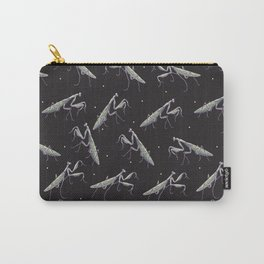 praying mantis and white dots pattern Carry-All Pouch