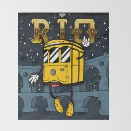 The Face of Rio - Teresa's Tram Throw Blanket
