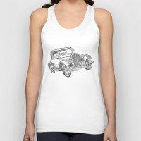 car Tank Tops featuring car by Puti Wen
