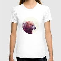 smile T-shirts featuring Bear // Calm by Amy Hamilton